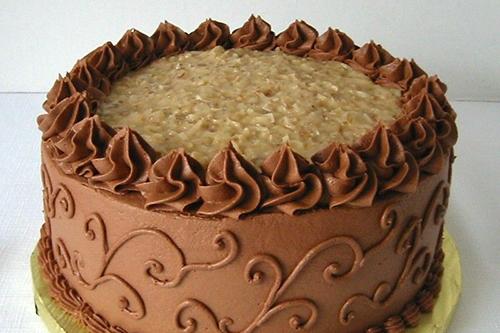 German Chocolate cake at Howard Johnson