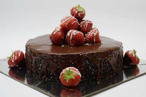 Strawberry Chocolate Truffle cake at Howard Johnson