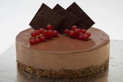 Chocolate cheesecake at Howard Johnson